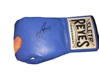 Vasyl Lomachenko Autographed Reyes Blue Boxing Glove in Black Signature