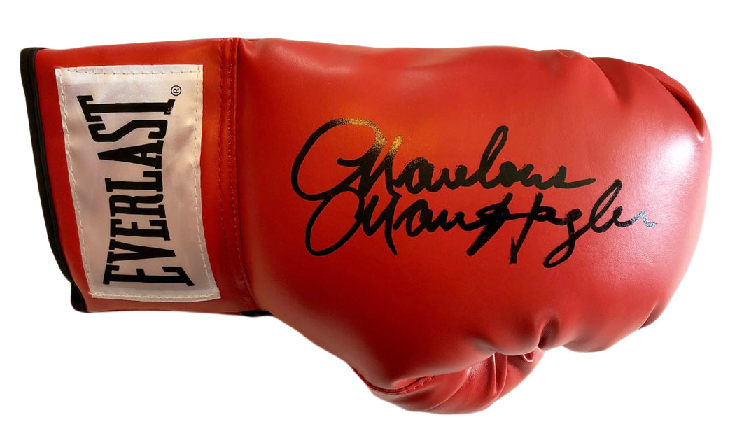 Marvin Hagler Autographed Red Everlast Boxing Glove. JSA Cert