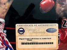 Miguel Cotto Autographed 8 x 10 Steiner certified boxing photo vs Zab