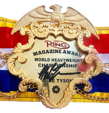 Mike Tyson Signed Ring Magazine Heavyweight Championship Belt