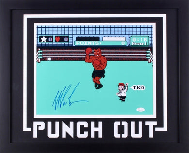 Mike Tyson Signed Punch-Out 18x22 Custom Framed Photo (JSA COA)