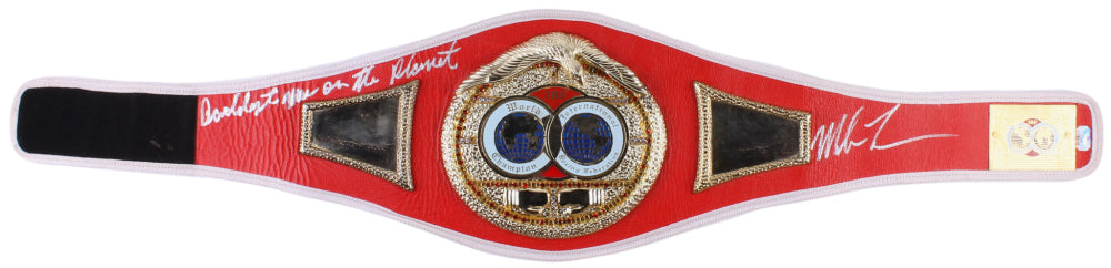 Mike Tyson Signed IBF Heavyweight Championship Belt Inscribed