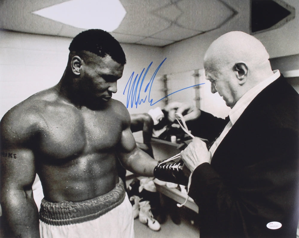 575ed2e2d7f Mike Tyson Signed 16x20 Photo with Cus D Amato with JSA COA ...