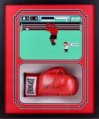 Mike Tyson Signed 22x26x5 Custom Framed Shadowbox Boxing Glove Display JSA