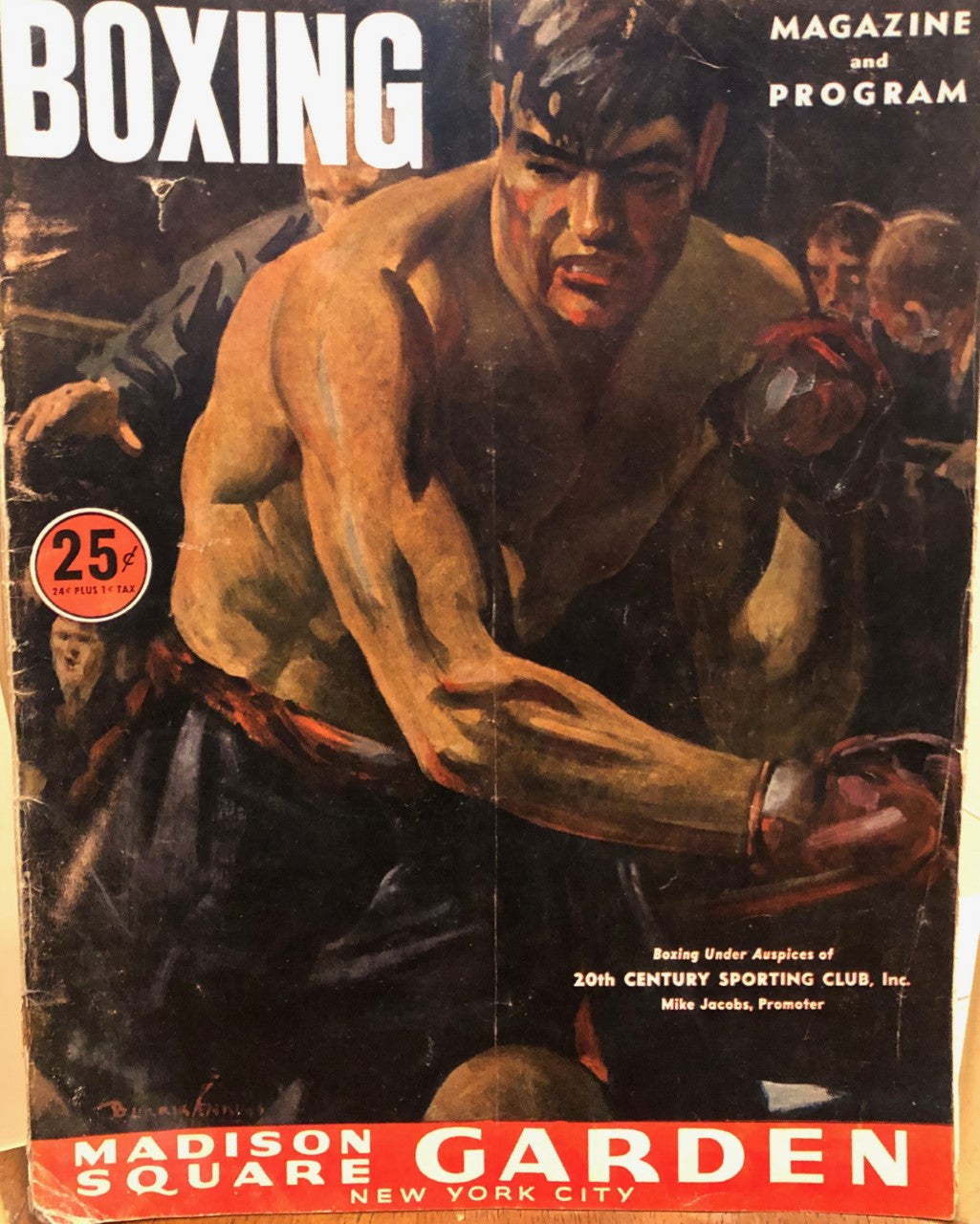 Madison Square Garden Vintage boxing magazine and program