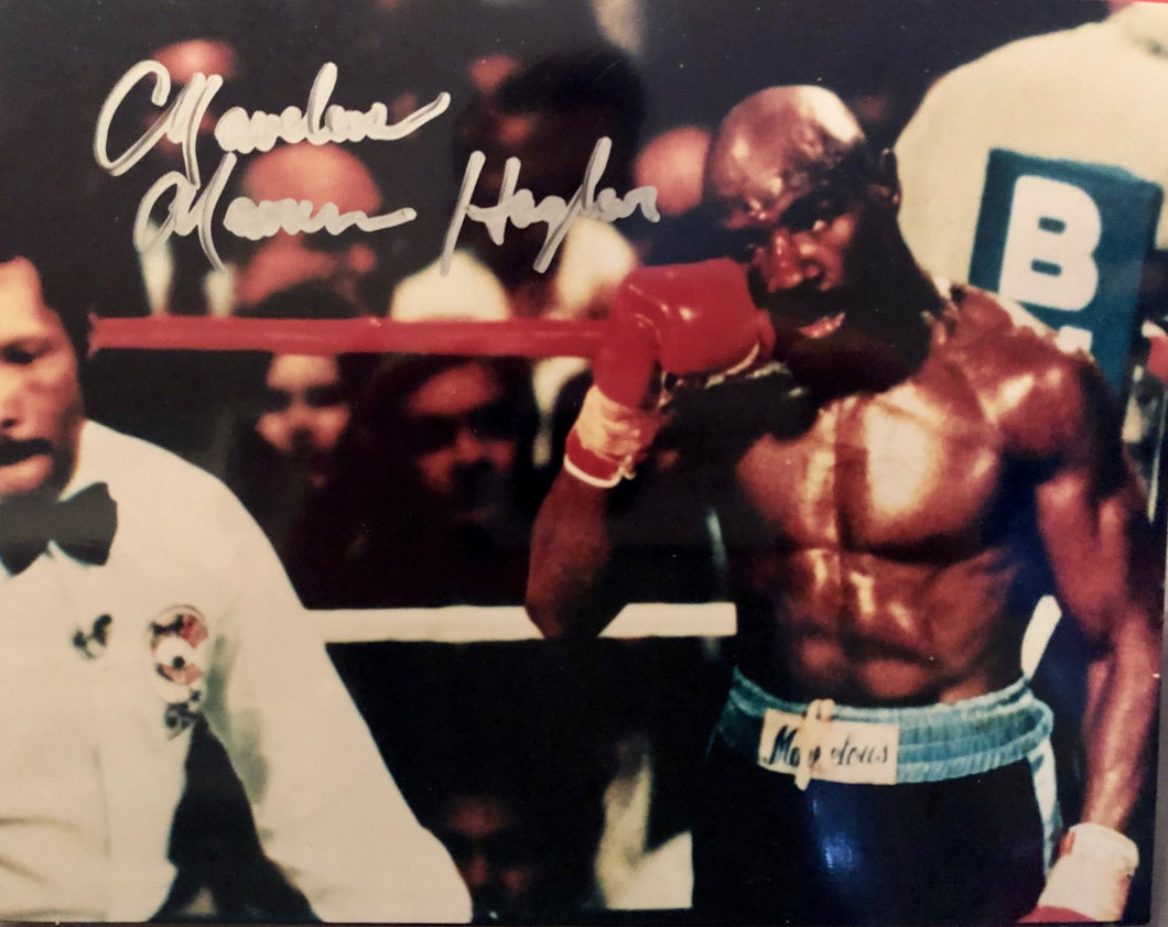 Marvelous Marvin Hagler Boxing Middleweight Champ SIGNED 8x10 Photo