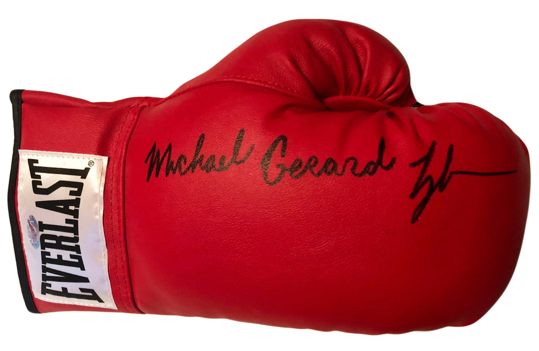Mike Gerald Tyson Autographed Red Everlast Boxing Glove Steiner sports Certified
