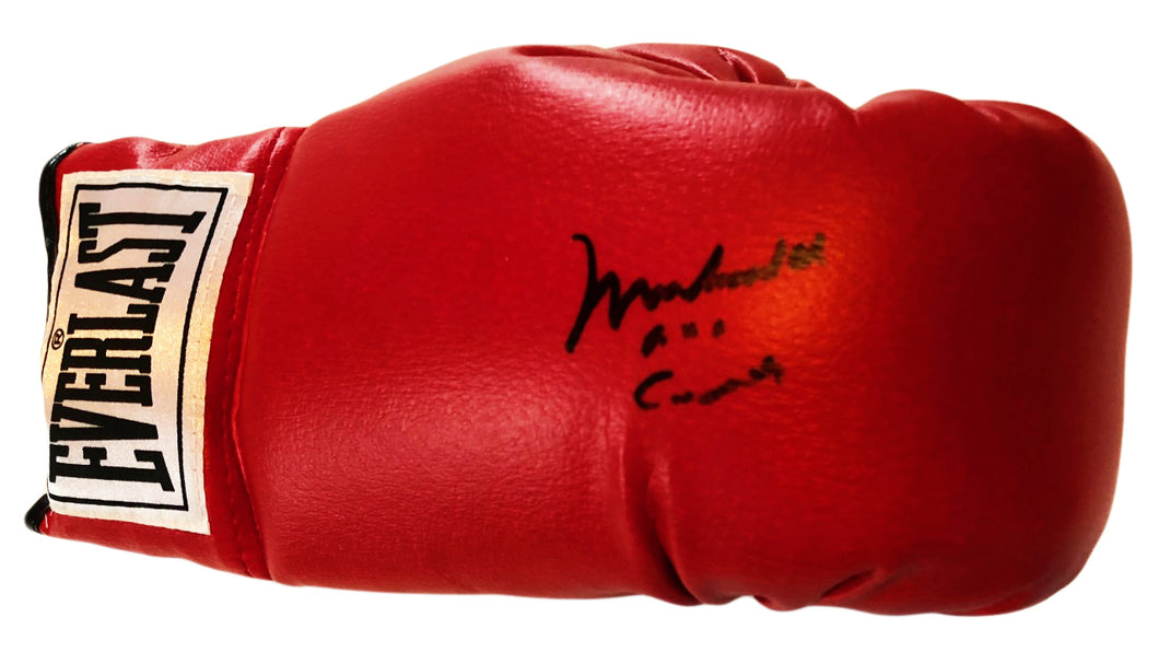 Muhammad Ali aka Cassius Clay Autographed Everlast Boxing Glove with Dual certification