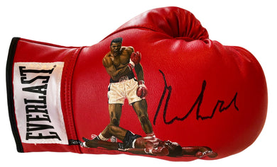 Muhammad Ali Autographed and Painted Everlast Boxing Glov,  JSA Cert