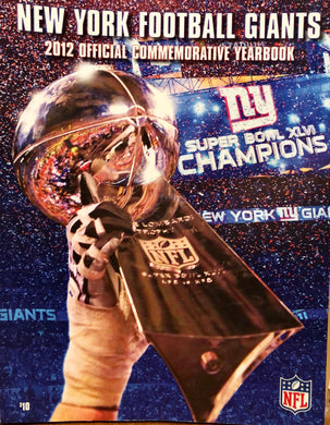 New York Giants 2012 official YEARBOOK, NFL Football, NM, nice, ELI MANNING, NYG