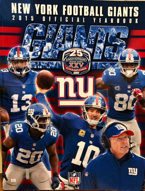 NY Football Giants 2015 Official Yearbook NFL program magazine