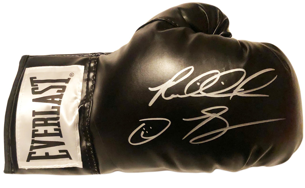 Riddick Bowe Right Hand Autographed with inscriptions Everlast Black Boxing Glove
