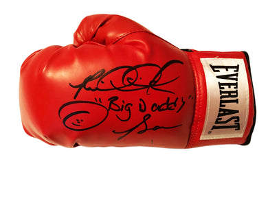 Riddick Bowe Autographed with inscriptions Everlast Boxing Glove