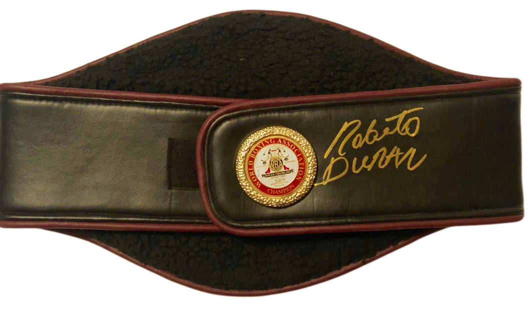 Roberto Duran Hands of Stone Autographed WBA Championship Full Size Belt