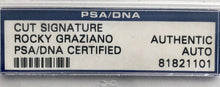 Executive ROCKY GRAZIANO CUT AUTO PSA DNA SIGNED
