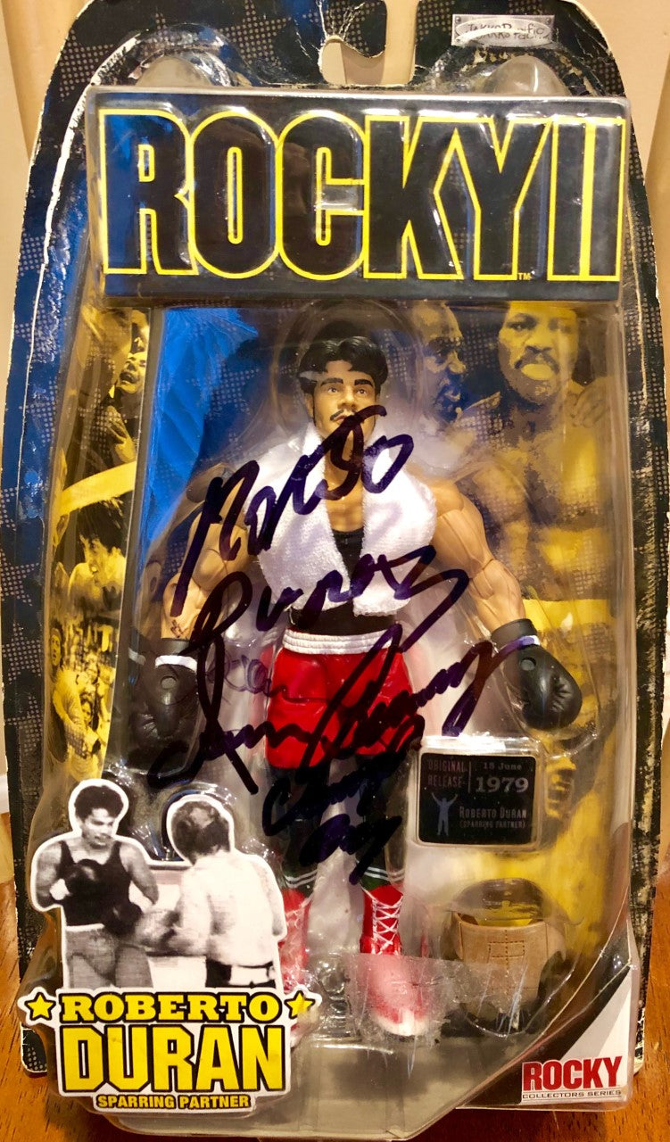 Rocky II Series 2 Action Figure Jakks Pacific Barkley and DURAN Signed autographed