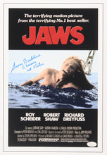 "Susan Backlinie Signed ""Jaws"" 11x17 Movie Poster Inscribed ""Chrissie"" and ""1st Victim"""