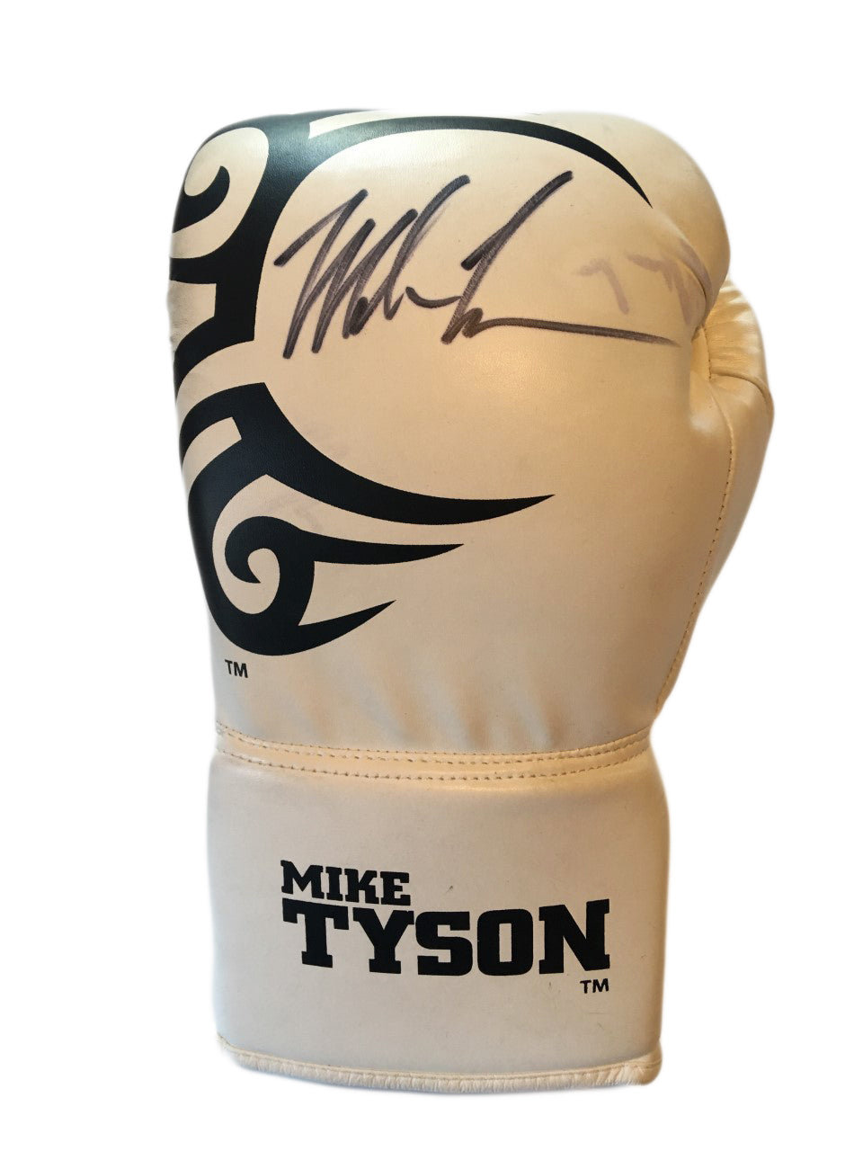 Mike Tyson Black Autographed White Custom Tyson Boxing Glove