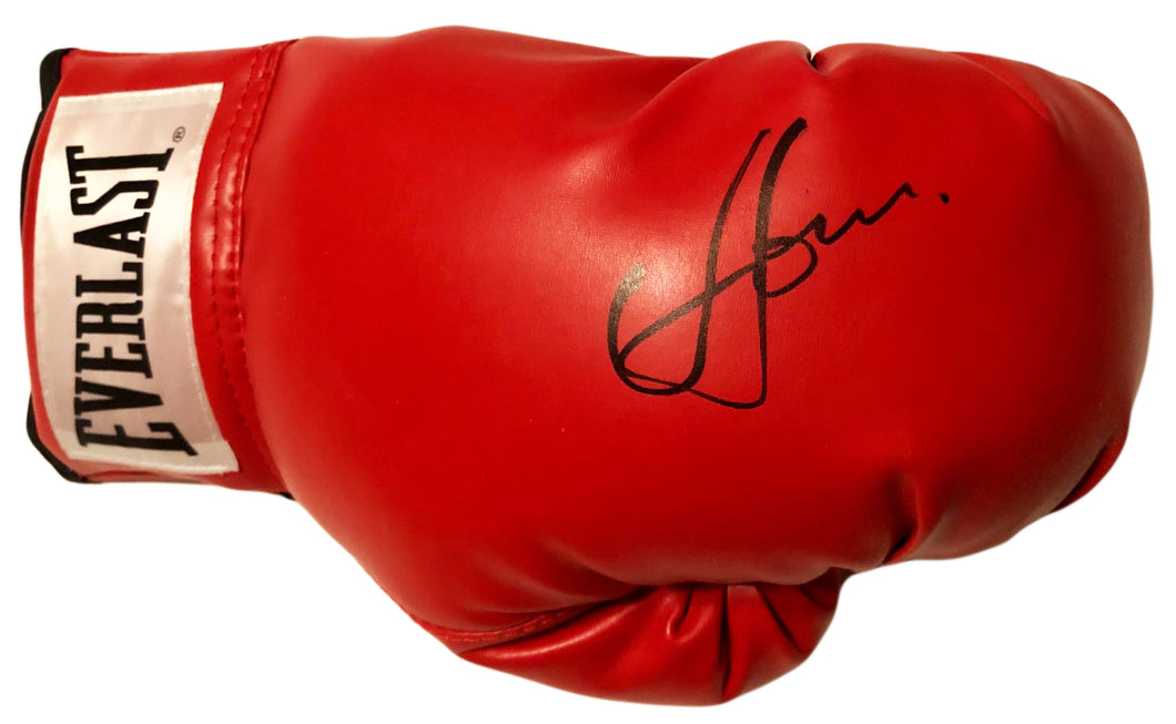 Vasyl Lomachenko Autographed Everlast Red Boxing Glove in Black Signature