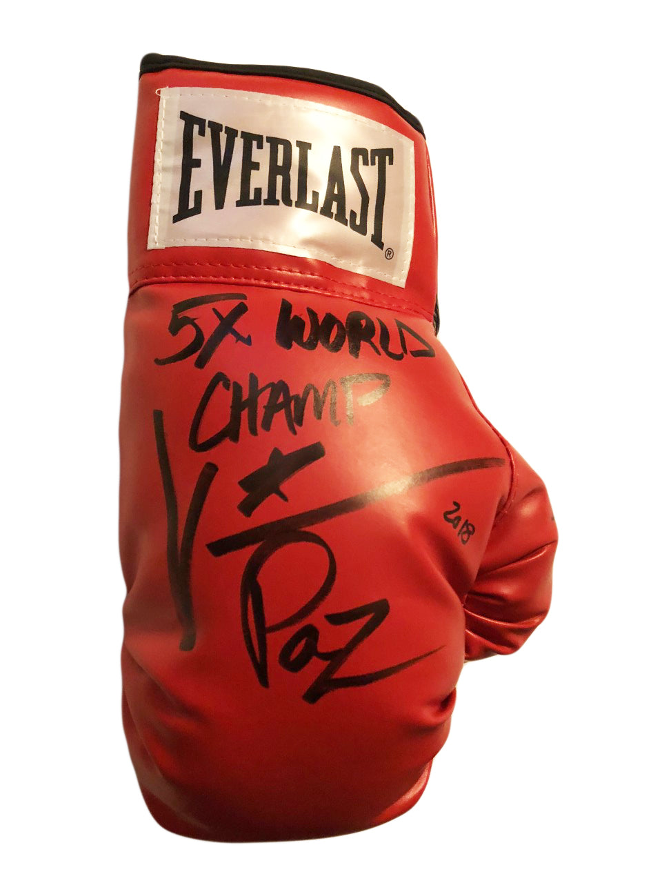 Vinny Paz Pazienza Signed Autographed Boxing Glove 5X World Champ 2018