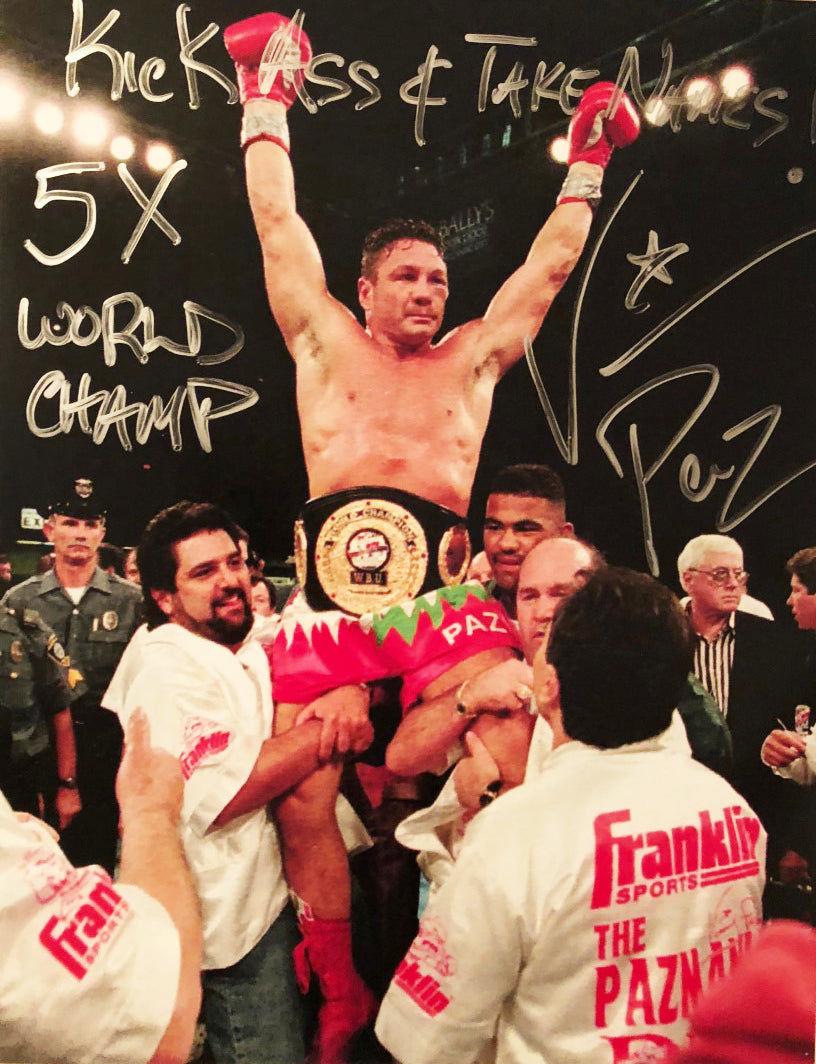 Vinny Paz Pazienza Signed Autographed 8X10 Photo 5X World Champ 50 Wins