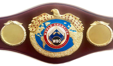 WBO Championship Boxing Belt full size hand custom made, unsigned