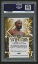 2017 Leaf Metal Floyd Mayweather #FCW01 Fight of the Century Blue /5 (PSA 9)