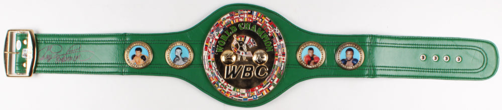 George Foreman Signed Full-Size WBC Heavyweight Championship Belt (JSA COA & Foreman Hologram)