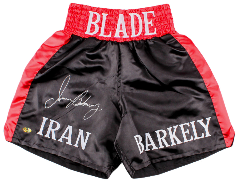 Iran Barkley Signed Boxing Trunks (MAB Hologram)