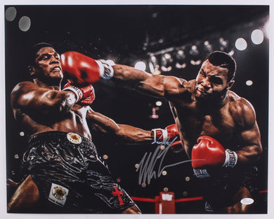 Mike Tyson Signed in Silver Autograph Size 16x20 Photo (JSA COA)