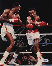 "Sugar Ray Leonard & Tommy ""Hitman"" Hearns Signed 8x10 Photo (PSA COA)"