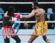"Sugar Ray Leonard & Tommy ""Hitman"" Hearns Signed 8x10 Photo (Beckett COA)"