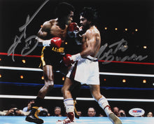 Sugar Ray Leonard & Roberto Duran Signed 8x10 Photo (PSA COA)