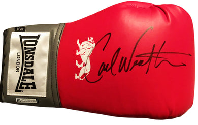 Carl Weathers Autographed Rare U.K Boxing Glove Inscribed
