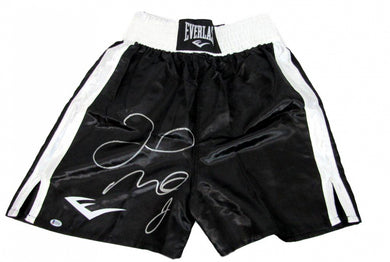 Floyd Mayweather Jr. Signed Everlast Boxing Trunks (Beckett COA)