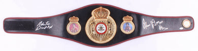 Thomas Hearns & Roberto Duran Signed WBA Full-Size Heavyweight Championship Belt (Beckett COA)