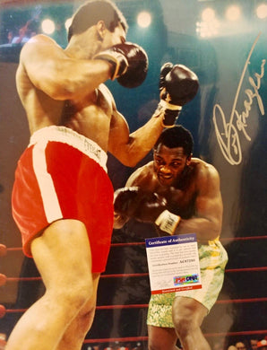 Joe Frazier Signed Autographed Rare 16 X 20 Size vs Muhammad Ali Photo PSA Certified