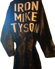 "Mike Tyson Signed ""Iron Mike"" Boxing Black Custom Robe (PSA Hologram)"
