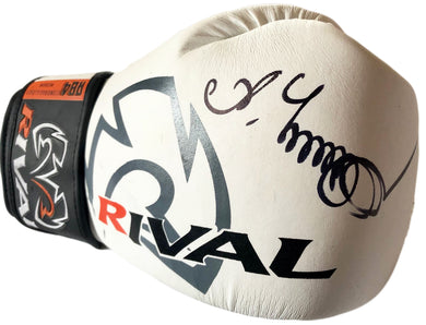 Oleksandr Usyk autographed Rare white Rival Boxing glove, signed in person with photo proof