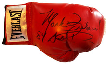 Mark Breland Autographed signed HUGE signature across a Everlast Boxing Glove