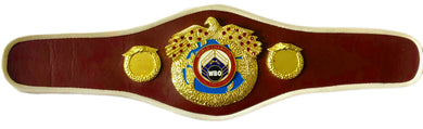 WBO Championship Boxing Belt mini size hand custom made, unsigned with fur in back