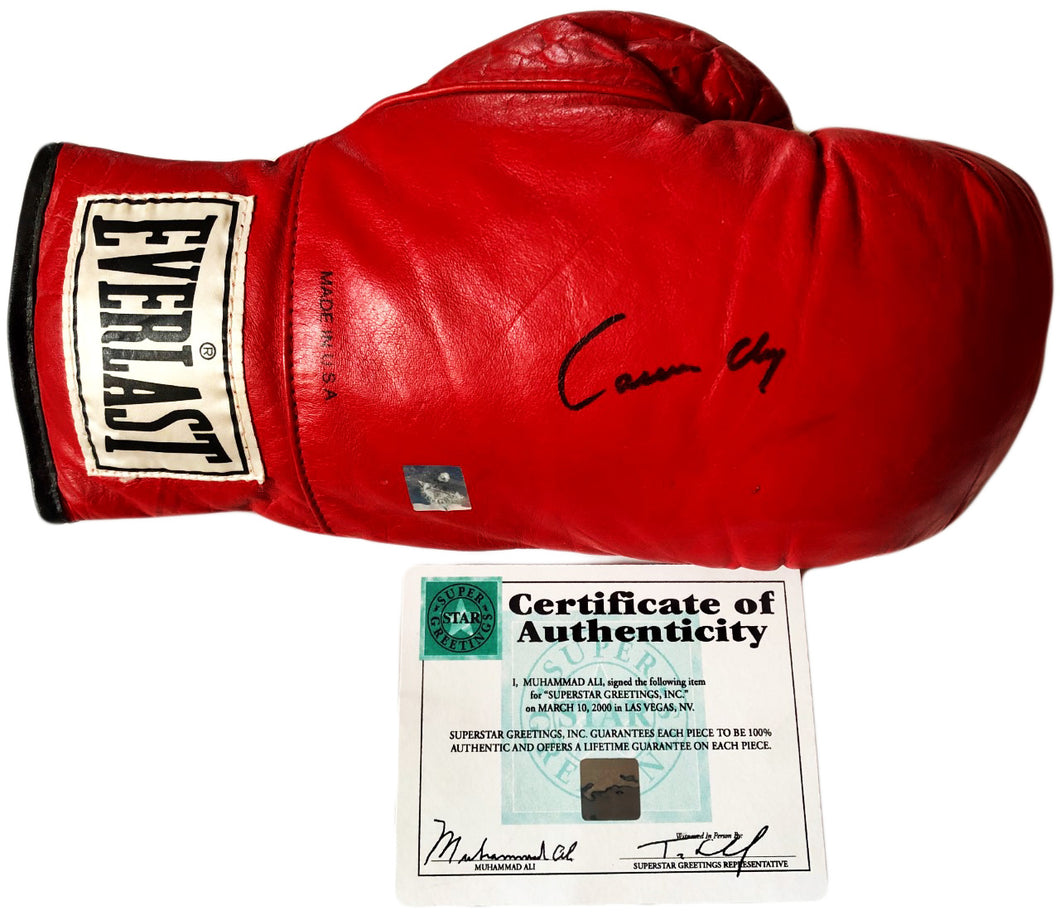 Muhammad Ali aka Cassius Clay Autographed Vintage Everlast Boxing Glove with SSG certification