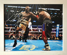Deontay Wilder 16x20 Framed white autographed Boxing Photo Autographed certified Beckett