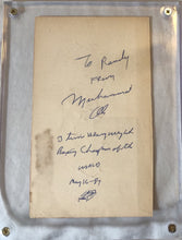 Muhammad Ali Deluxe Protected Autographed Cut And Hand Written inscription JSA