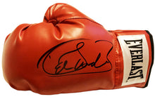 Saul Canelo Alvarez Autographed Red Everlast Boxing Glove in Black signature
