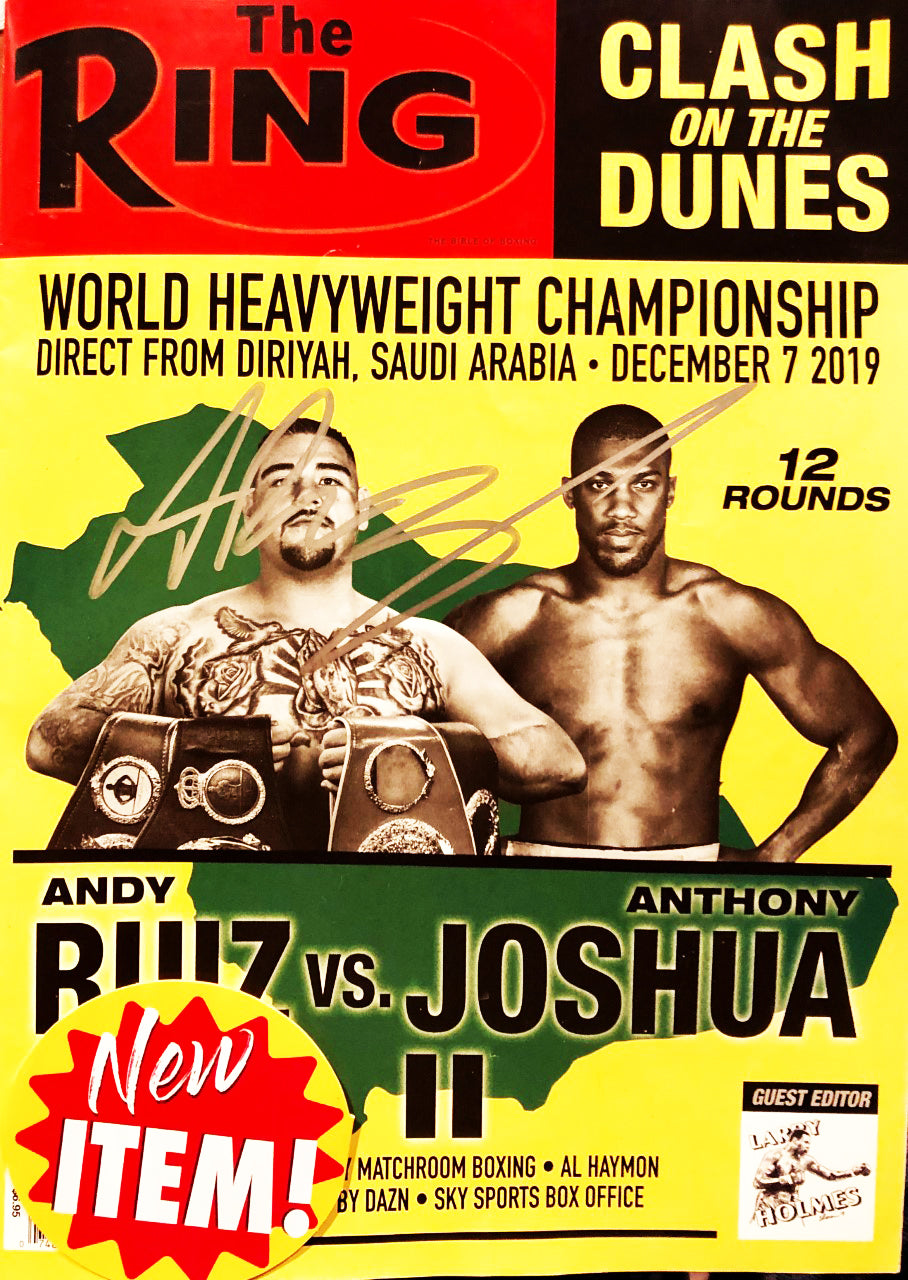 Andy Ruiz Jr. signed Championship Fight Ring Magazine