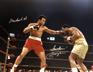 Muhammad Ali vs Joe Frazier signed autographed 16 x 20 boxing photo