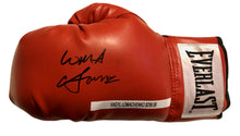 Vasyl Lomachenko Full Autographed Everlast Red Boxing Glove in Black Signature