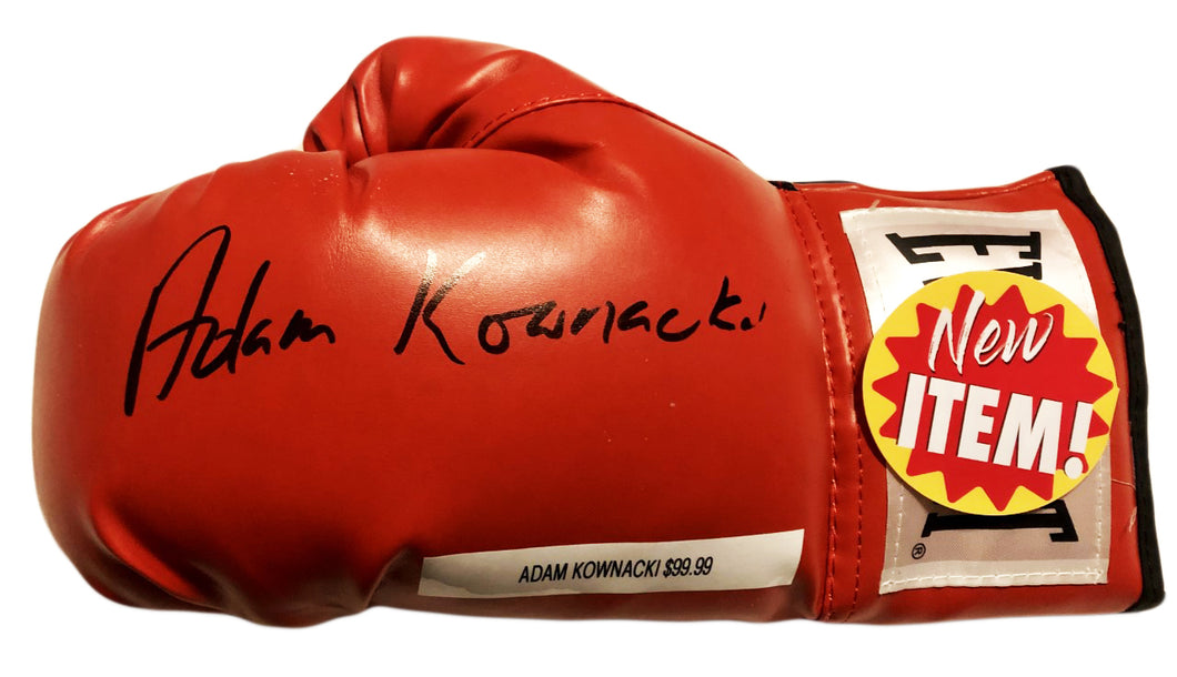 Heavyweight Adam 'Babyface' Kownacki  Autographed Signed Everlast Boxing Glove