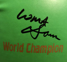 Vasyl Lomachenko Full Autographed Custom Green Boxing Glove in Black Signature